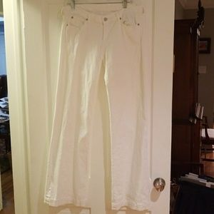 7 for all mankind white denim jeans size 31